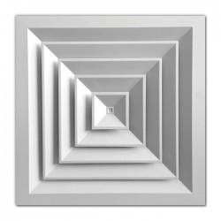Anemostat 4 directii 450/595 int/ext pentru tavan casetat cod DIF0203