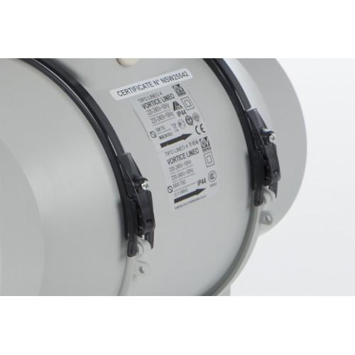 Ventilator axial in linie cu timer VORTICE Lineo 125 T V0 cod VOR-17022