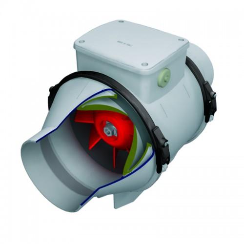 Ventilator axial in linie cu timer VORTICE Lineo 150 T V0 cod VOR-17023