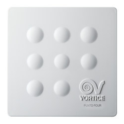 Ventilator baie Vortice Punto Four MFO 90 mm, clapeta antiretur, debit 65 mc/h