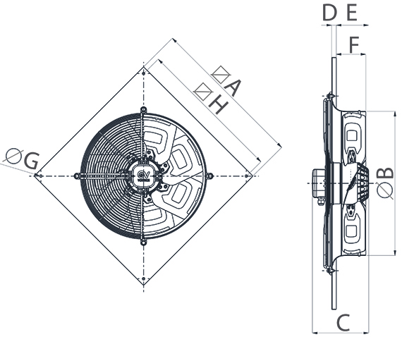 Dimensiuni ventilator de perete
