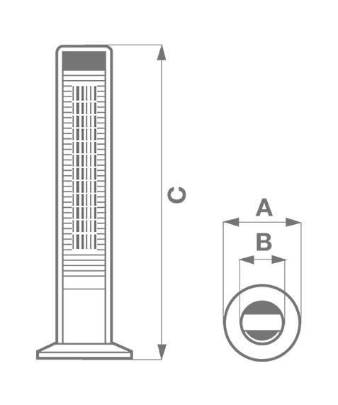 Ventilator oscilant Vortice tip turn