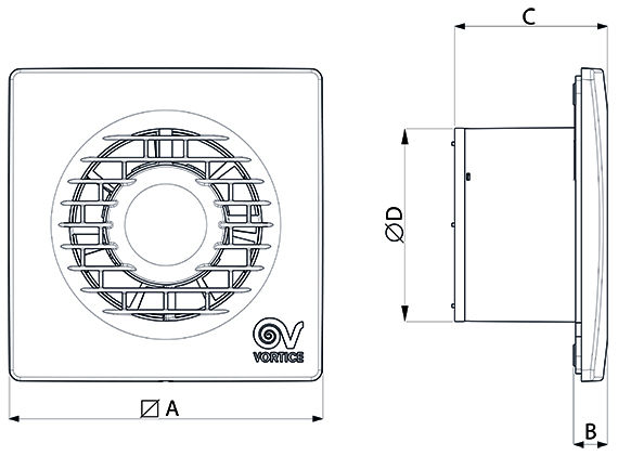 Dimensiuni Punto Filo MF 90 mm cu timer