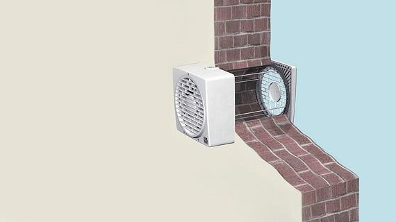 Ventilator cu montaj in perete